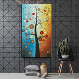 Colorful Abstract Tree 1 Piece Canvas