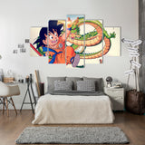 Son Goku Kid 5 Piece Canvas