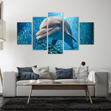 Lovely Dolphin 5 Piece Canvas