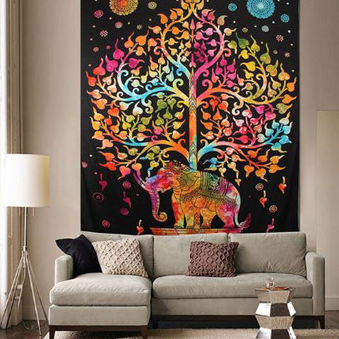 Native Elephant Tapestry
