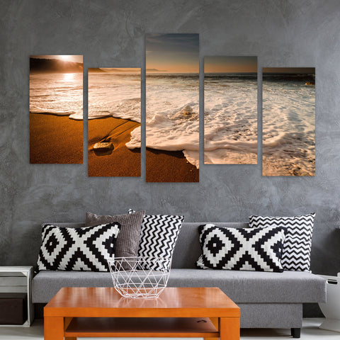 Surf Watchers 5 Piece Canvas