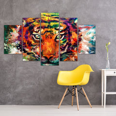 Tiger Power 3 Piece Canvas
