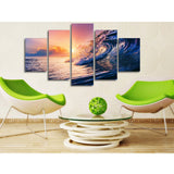 Soft Waves 5 Piece Canvas