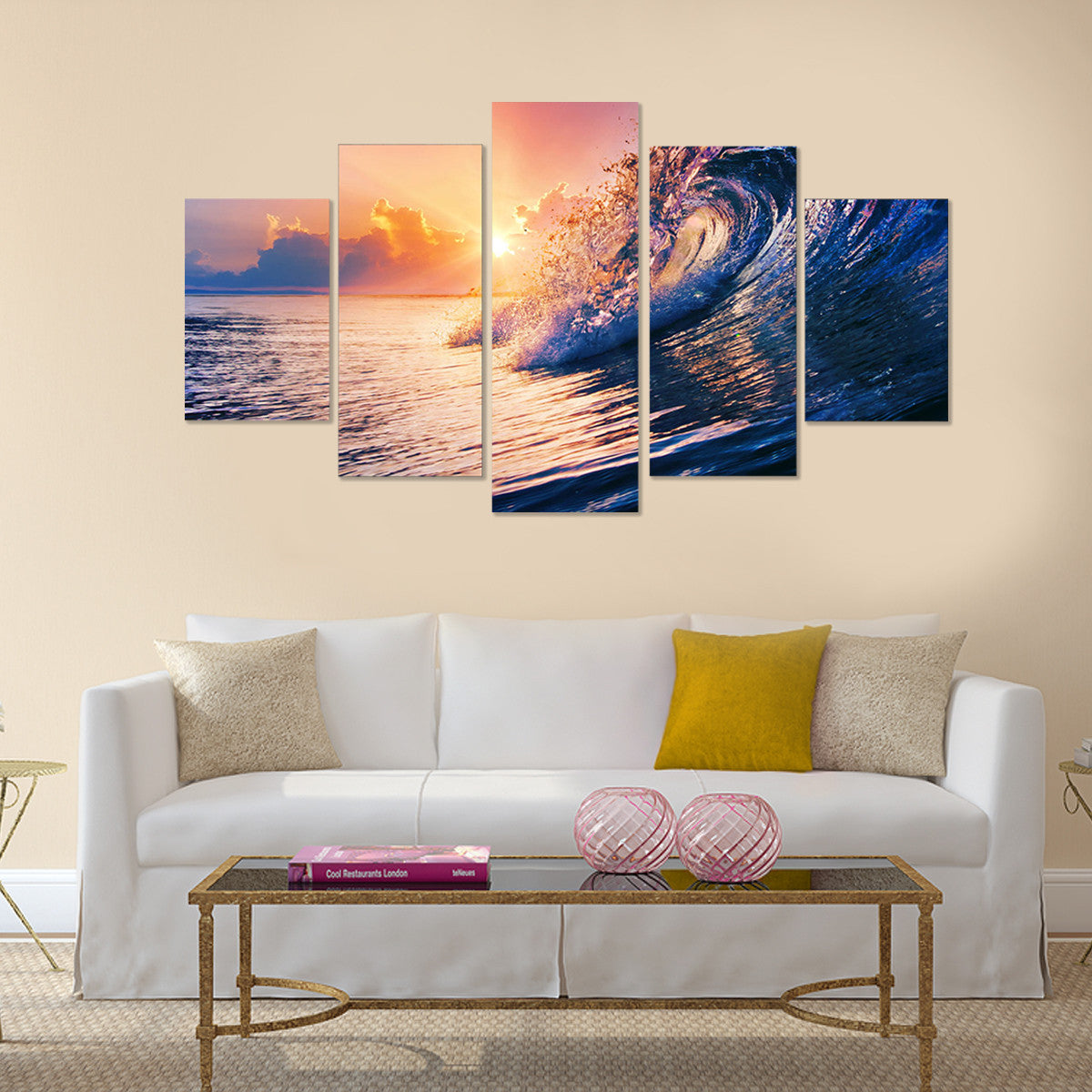 Seashore Waves 5 Piece Canvas