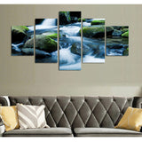 Rushing Water 5 Piece Canvas