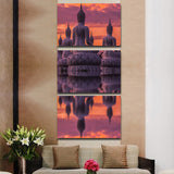 Buddha Reflection 3 Piece Canvas