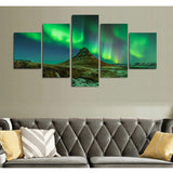 Northern Lights Spectrum 5 Piece Canvas