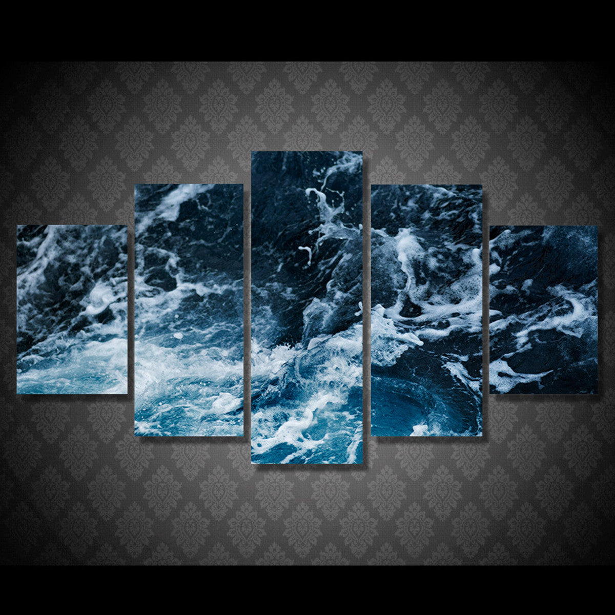 Waves Escape 5 Piece Canvas