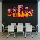 Summer Sunset 5 Piece Canvas