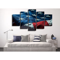 Winter Camping 5 Piece Canvas