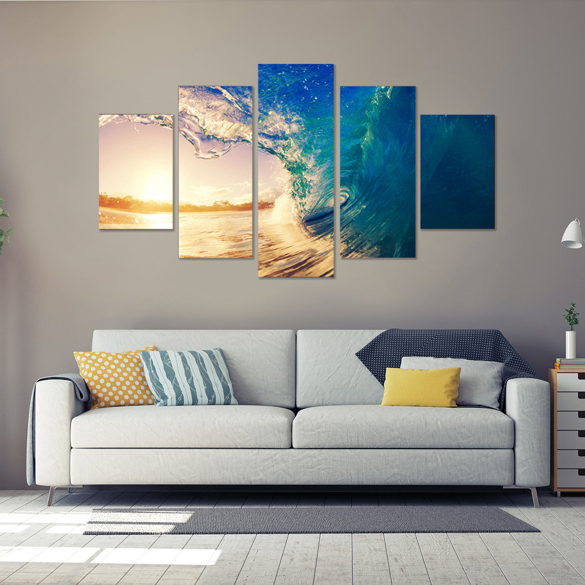 Water Carve 5 Piece Canvas