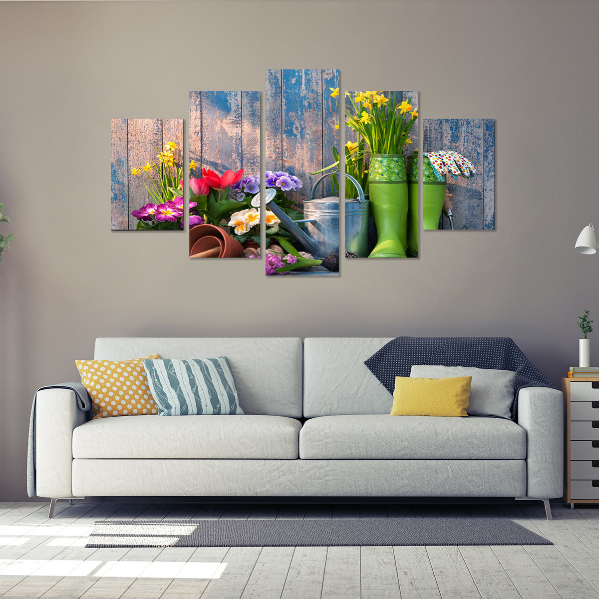 Gardener's Passion 5 Piece Canvas