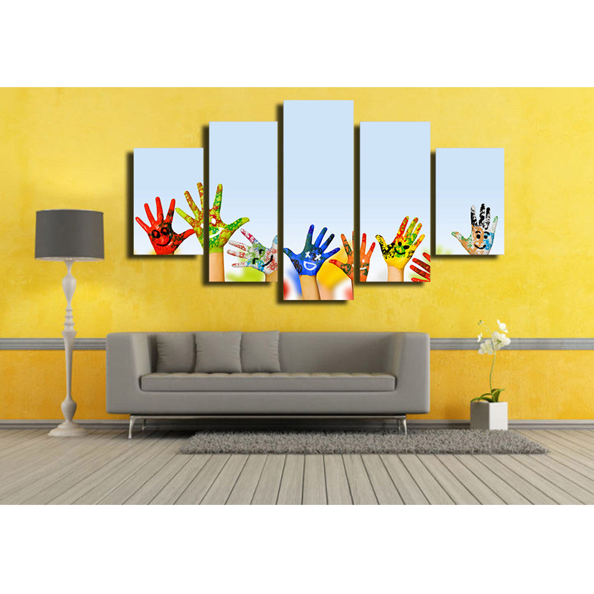 Happy Volunteer 5 Piece Canvas
