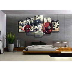 Police Lightbar 5 Piece Canvas