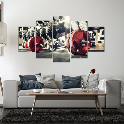Football Match 5 Piece Canvas