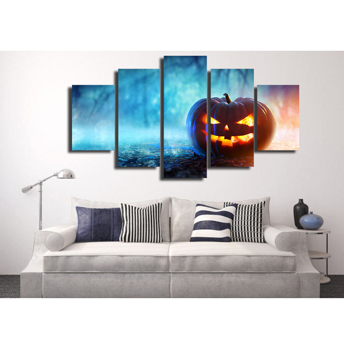 Halloween Pumpkin 5 Piece Canvas