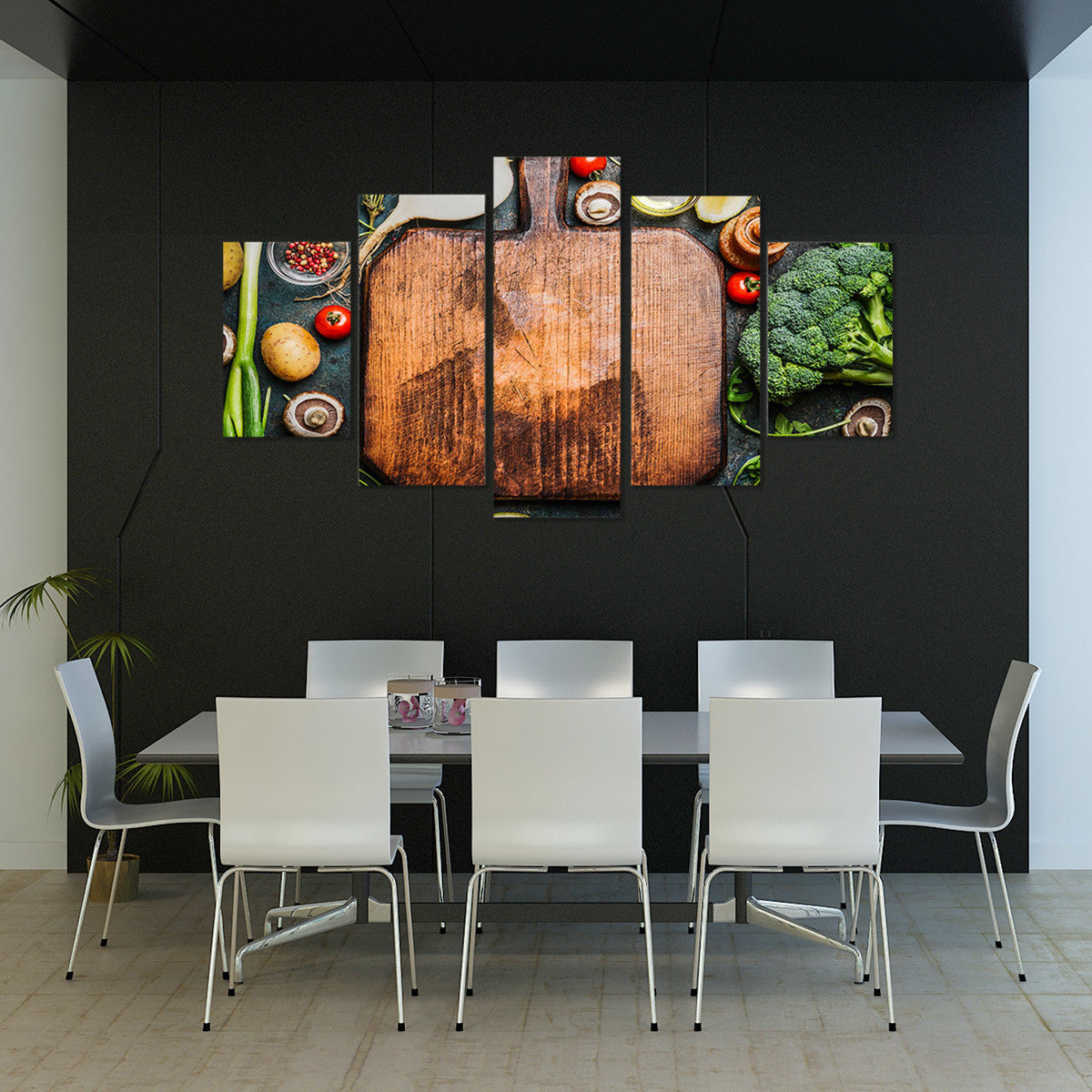 Cooking Healthy 5 Piece Canvas