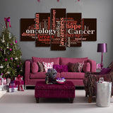 Breast Cancer Awareness 5 Piece Canvas