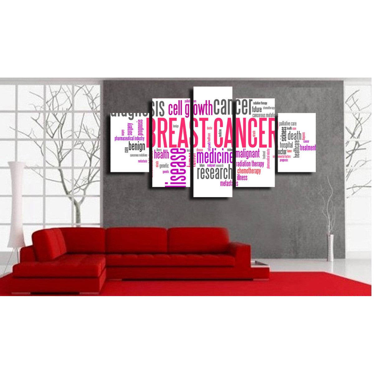 Beat It 5 Piece Canvas