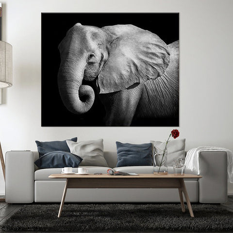 Flower Elephant 1 Piece Canvas