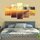 Golden Harvest 5 Piece Canvas