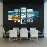 Deep Sea Fishing 5 Piece Canvas