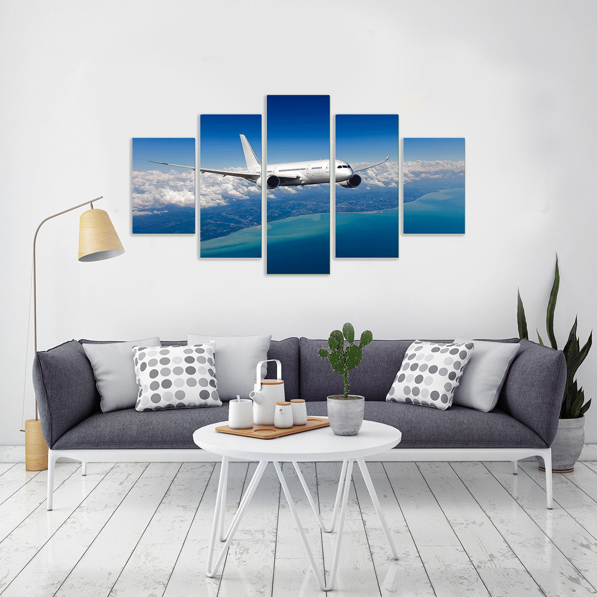 Flying Above Clouds 5 Piece Canvas