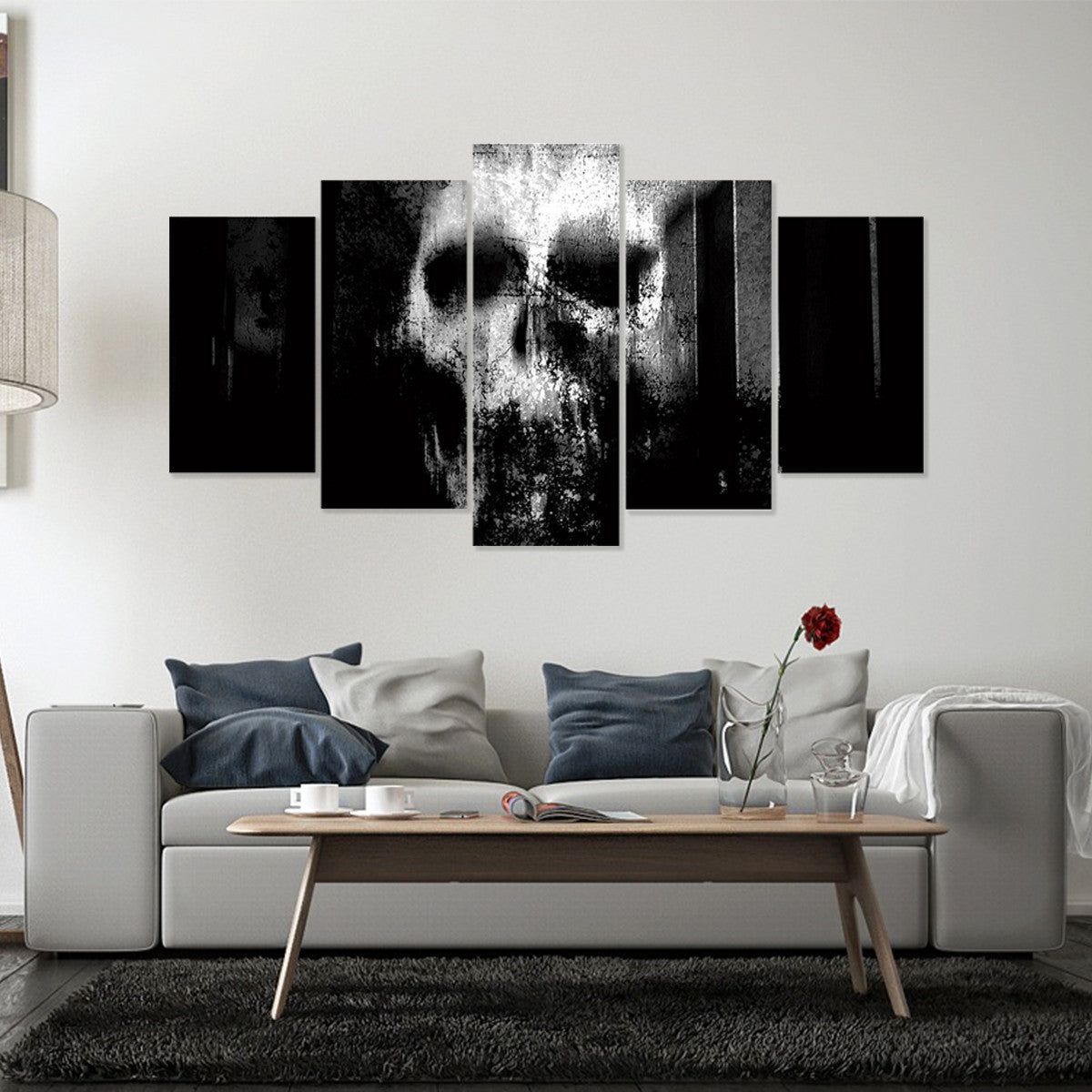 Gothic Face 5 Piece Canvas