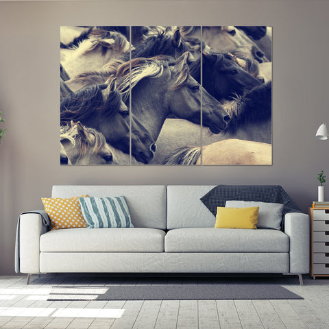 Fearless Biker 3 Piece Canvas