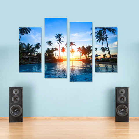 Aurora Charm 4 Piece Canvas