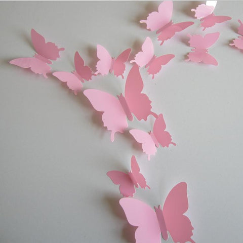 Butterfly Pure Color Wall Stickers