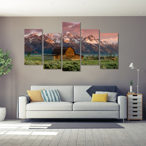 Golden Flight 5 Piece Canvas