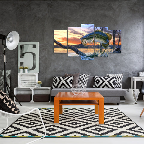 Beach Yoga 5 Piece Canvas
