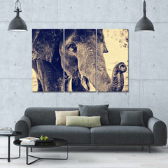 Wolf Eyes 5 Piece Canvas