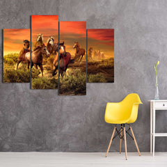 Flock of Birds 5 Piece Canvas