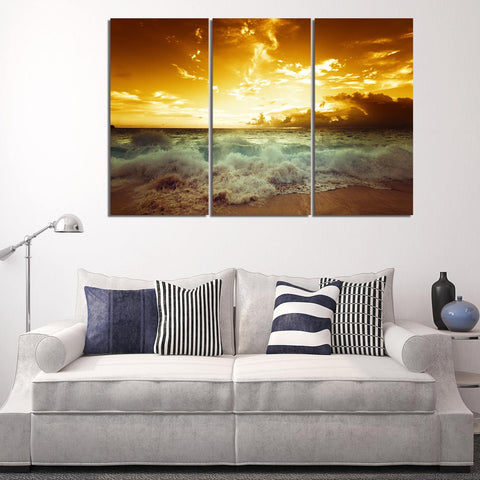 Tree of Colors 3 Piece Canvas