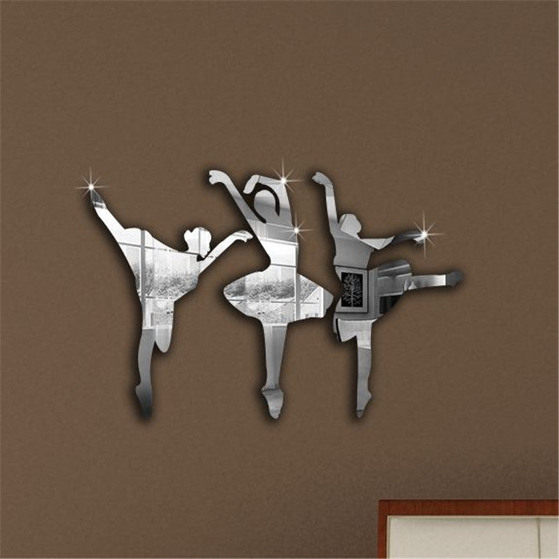 Ballet Dancers 3D Mirror Sticker