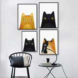 Cat Art Canvas