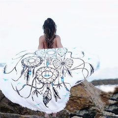 Boho Peacock Tail Tapestry