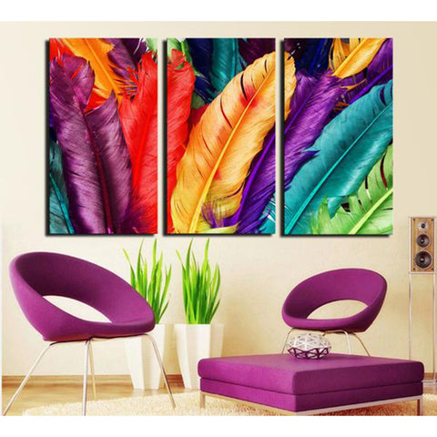 Colored Stones 3 Piece Canvas