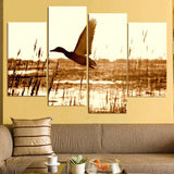 Flying Duck 4 Piece Canvas