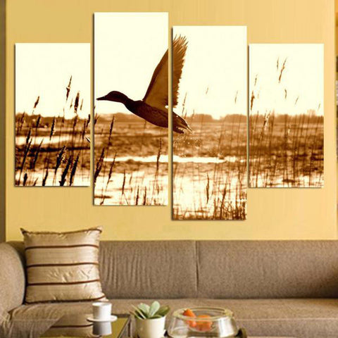 Airplane Dive 4 Piece Canvas