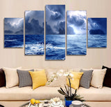 Ocean Storm 5 Piece Canvas