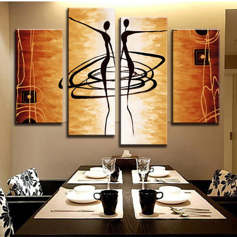 Monochrome Angel 4 Piece Canvas