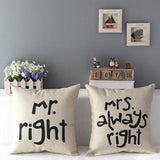 Husband and Wife Pillow Cases