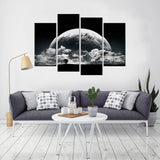 Super Moon 4 Piece Canvas