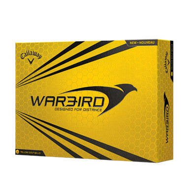 Callaway Warbird Yellow Logo Imprinted Golf Balls