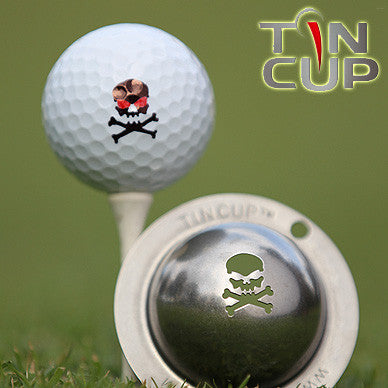 "Tin Cup Ball Marker ™    ""Jolly Roger"""