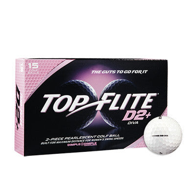 Top Flite D2+ Diva Text Imprinted Golf Balls