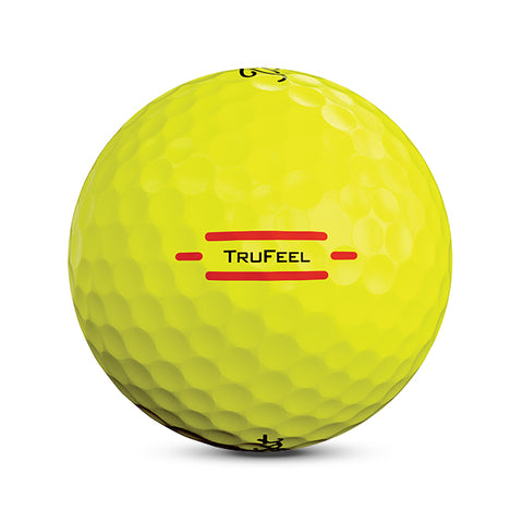 Titleist TruFeel • Yellow - Custom Text Imprint